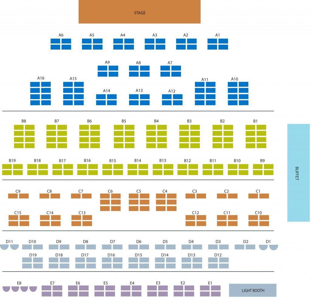 Dutch Apple 2017 seating chart figure - Please call for more information