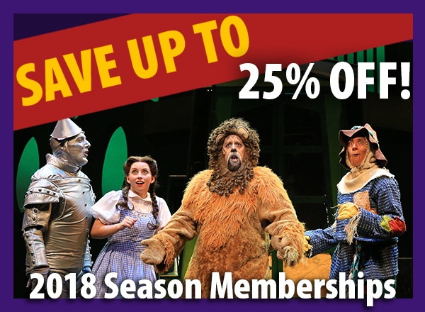 Save up to 25% off 2018 season memberships