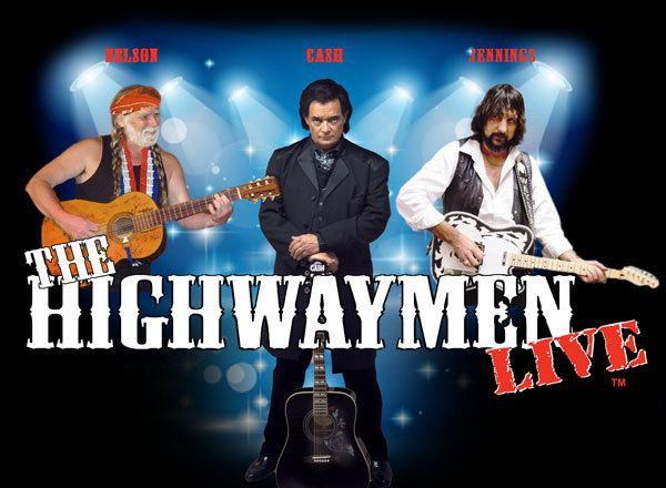 Willie, Waylon and Johnny Cash as the Highwaymen